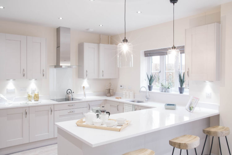 Ingleton show home kitchen at Wedgwood Park