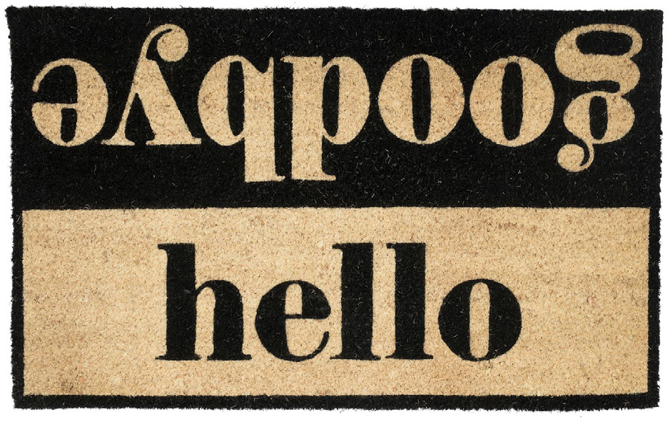 house proud hello goodbye doormat