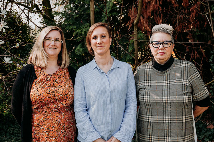 Angela Richards, Llamau Supported Lodgings Team Leader; Joanna Taylor, Mon CC Supported Lodgings Coordinator and Yvonne Wilmot, Llamau Supported Lodgings Coordinator