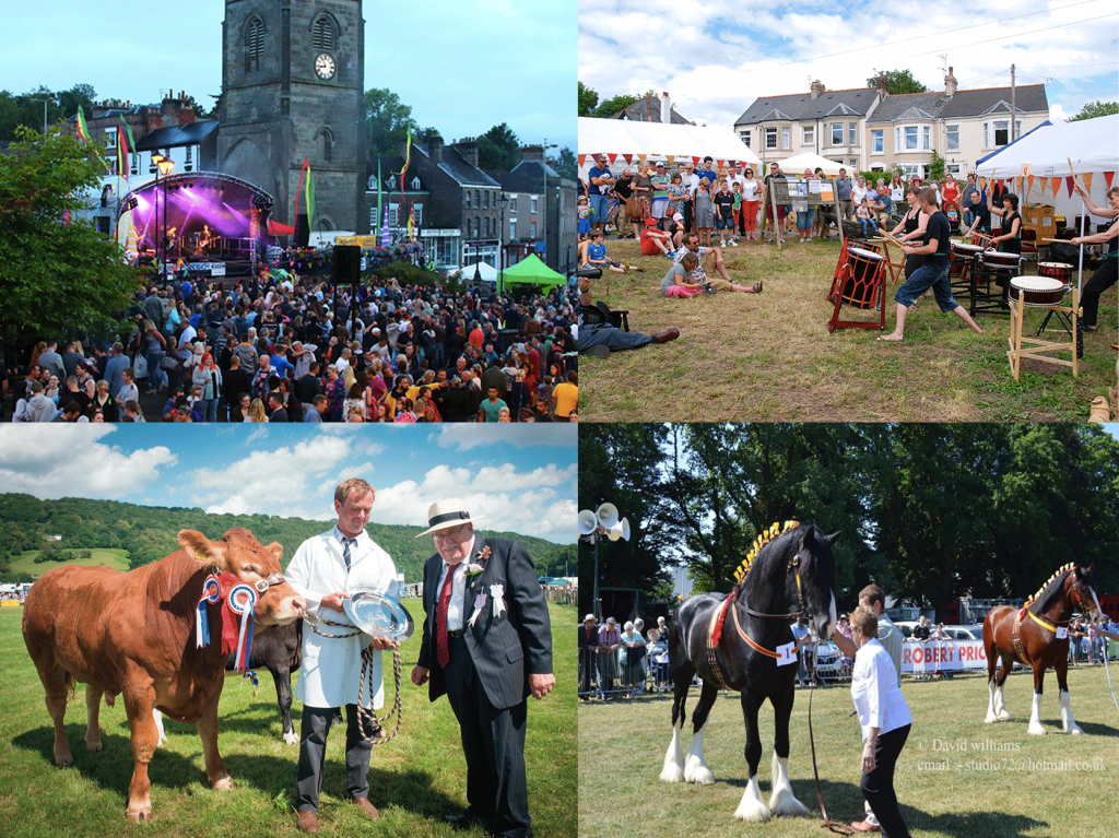 Coleford Music Festival, Caerleon Festival, Monmouthshire Show & the South Wales Shire Horse Show
